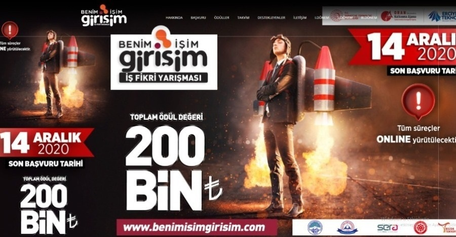 "APPLICATION FOR THE 4TH ""BENİM İŞİM GİRİŞİM"" COMPETITION OF BUSINESS IDEAS STARTS"